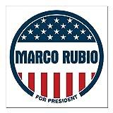 CafePress Marco Rubio President 20 Square Car Magnet 3 X 3 Square Car Magnet, Magnetic Bumper Sticker