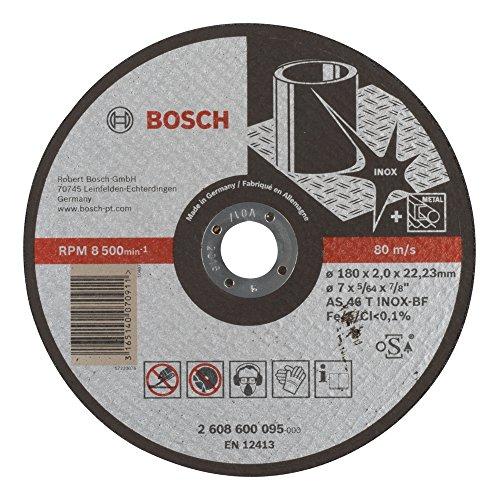 Bosch Accessoires 2 608 600 095 slijpschijf Expert for Inox - AS 46 T INOX BF, 180 mm, 2,0 mm, 1 stuk