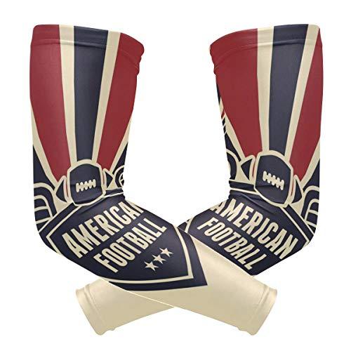 Lupinz Kompressions-Ärmel mit American Football Flagge, UV-Schutz, Kühlung, Sonnenschutz für Outdoor-Sportarten, 1 Paar