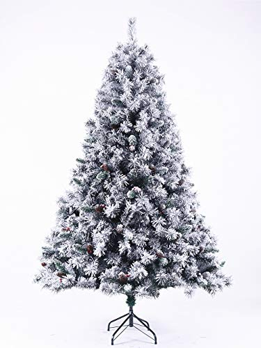 Evre 6Ft Snowy White Spruce Artificial Snow Christmas...