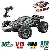 1: 16 Scale All Terrain RC Cars, 36km/H High Speed 4WD Remote Control Truck for...
