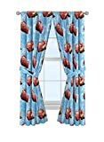 Jay Franco Disney Pixar Cars Velocity 84' Decorative Curtain/Drapes 4 Piece Set (2 Panels, 2 Tiebacks)