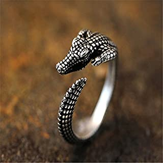 Best silver crocodile ring Reviews
