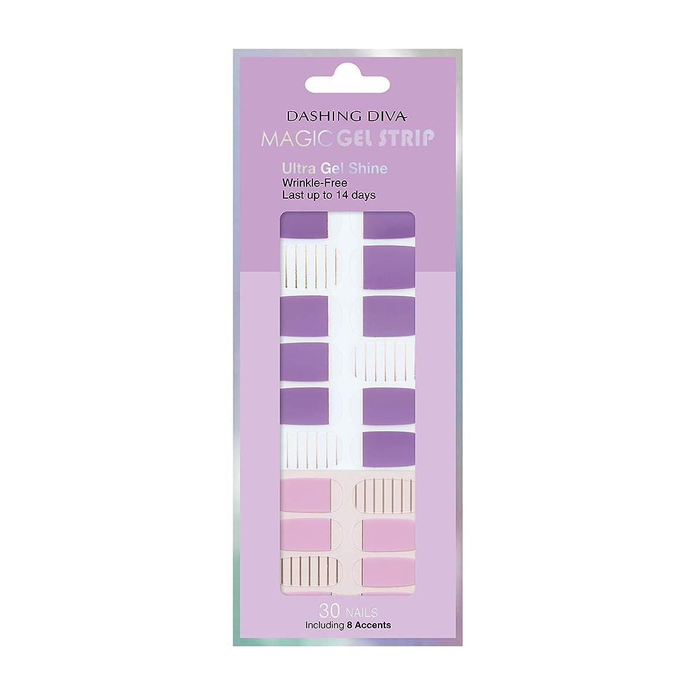 効能概念ギネスダッシングディバ マジックジェルストリップ DASHING DIVA Magic Gel Strip DGST83-DURY+ オリジナルジェル ネイルシール Purple Stripe