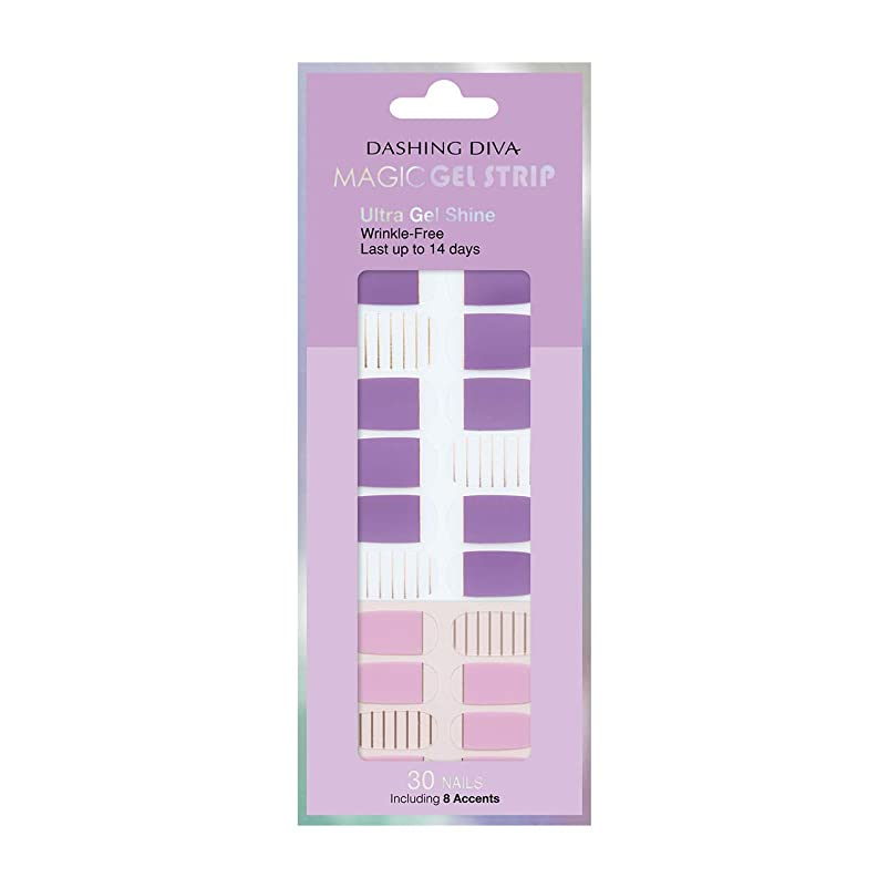 遡るくま求めるダッシングディバ マジックジェルストリップ DASHING DIVA Magic Gel Strip DGST83-DURY+ オリジナルジェル ネイルシール Purple Stripe