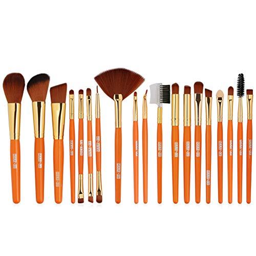 HANHOU Maquillage Brush Set 19pcs Professional Synthetic Face Eyeshadow Foundation Make Up Brushes,Orange-OneSize