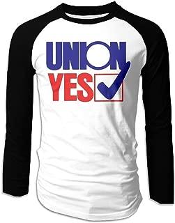Men's Union Yes Sign Long-Sleeved T-Shirt Long Sleeve T-Shirt Raglan