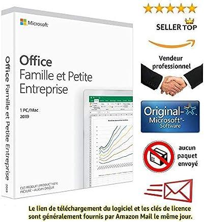 Microsoft Office Famille et Petite Entreprise 2019   MAC Licence Lifetime   Pas d'abonnement   Licence numérique originale Envoyé dans un jour par E-mail