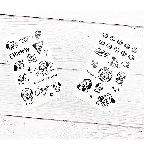 tzxdbh 10pcs-Costume de Bande dessinée Autocollants de Tatouage Autocollants 10pcs- 3