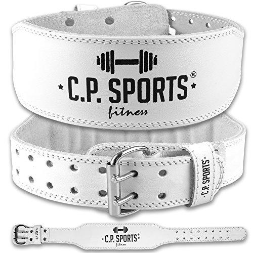 C.P. Sports Damen Trainingsgürtel Lady Leder, Weiß, XS