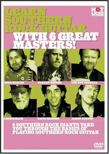 Learn Southern Rock Guitar With 6 Great Masters (DVD & Booklet)