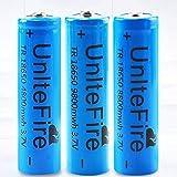 GGZ Batería 18650 Recargable de iones de Litio 18650 3.7 V 9800 mAh Batería Inteligente...