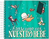 Recuerding - Álbum de Fotos Infantil Bebé, 60 Páginas (24x21cm) | Moderno y Original | Pegar y Escribir | Personalizable | Colecciona Recuerdos del Peque, Niño o Niña | Hecho en España