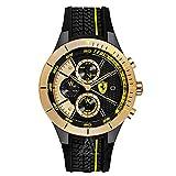 [フェラーリ]FERRARI メンズ RACE DAY クロノグラフ ブラック シリコン 830295 腕時計 [並行輸入品]