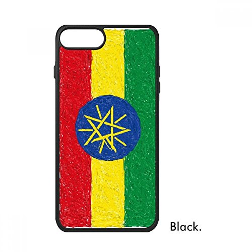 DIYthinker Rood Geel Groene Strepen Ethiopië Vlag Nationale Culturele Element Voor iPhone 7 Cases Phonecase Apple Cover Case Gift, iPhone 7 case