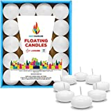 Unscented Floating Candles – Set of 20 White Floating Candles...