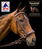EASYTREK marrón cuero anatómico caballo brida PONY, MAZORCA, COMPLETO, X tamaño completo (Full (Large))