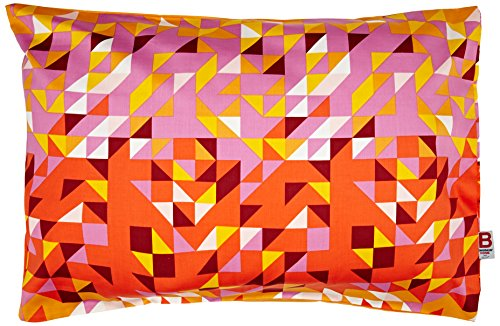 Essix x Bensimon - Taie d'oreiller Géo Satin de coton Multicolore 50 x 75 cm
