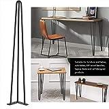 Set di 4 gambe tavolo a forcina,Gambe Piedini per mobili e scrivania,Tavolino,tavolo da pranzo, in acciaio (70cm)