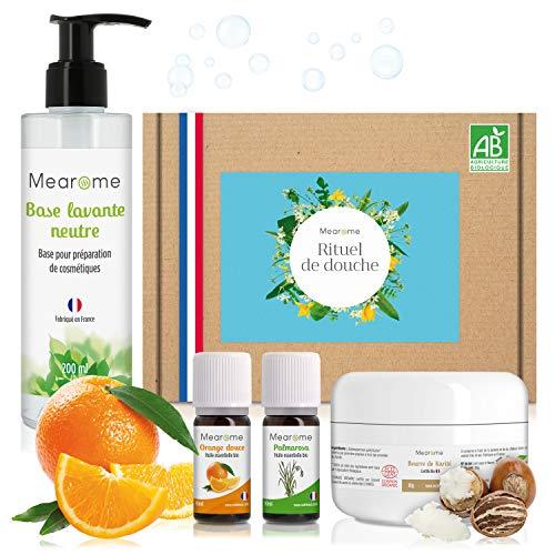 Coffret bain & douche naturel - Soins maisons BIO corps + visage - Hydratation, lavage, gommage - Beurre de...