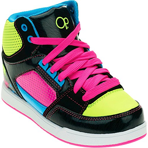 OP Ocean Pacific Girls Fashion Neon Color Skate Athletic Shoes (1 Little Kids)