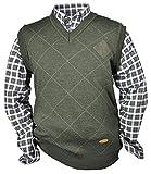 Oefele.de Hubertus - Jersey de caza con capucha y camisas, color verde oliva (verde), Patrón 1, color verde oliva, tamaño 48