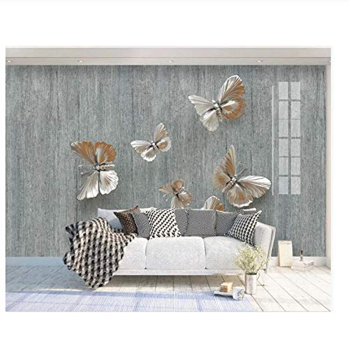 Lovemq Custom Mural 3D Photo Wallpaper Hd Light Luxury Colorful 3D Butterfly Nostalgic Background Room Wallpaper For Wall-130X80Cm