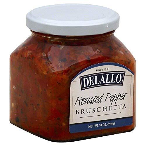 Delallo, Bruschetta Roasted Pepper, 10 Ounce