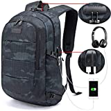 Tzowla Business Laptop Backpack Water Resistant Anti-Theft College Backpack with USB Charging Port...