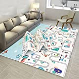 [Waterproof pe coat easy to clean and durable not ripping by kids]. This waterproof folding baby mat is supper easy wipe down with baby wipes or cloths when it gets dirty by spits, spills, food residue. [reversible antiskid double side alphabet desig...