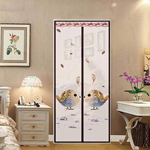 Vliegschermen voor deuren, Magnetisch Scherm Deur Beschermer Gordijn Mesh met Ingebouwde Magneten Zwaartekrachtstokken, Screen Deur Stopper 90 * 210cm