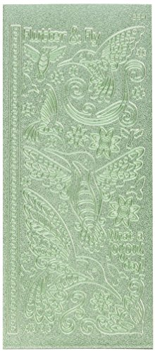Hot Off The Press 2541 Éblouit Stickers-Fancy Hummingbirds-Green