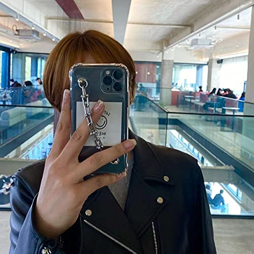 Funda de teléfono con Pulsera de Cadena de clavícula para iPhone 12 Mini XR X XS MAX 6 7 8 Plus 11 Pro MAX SE 2020 TPU Contraportada a Prueba de Golpes, A, para iPhone 12