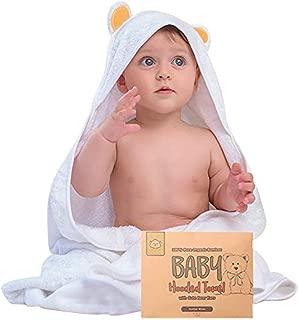 KeaBabies Organic Bamboo Baby Bath Towels with Hood