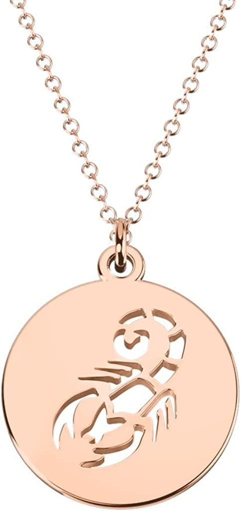 10K Gold Scorpio Zodiac Sign JEWLR by Purchase Disc Ranking TOP8 Necklace Cutout