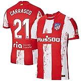 S&L Camiseta Carrasco Atlético de Madrid Rojo 2021/22 para Hombre & Niño(Rojo,32)