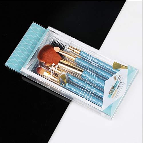 HBBOOI 5pcs cosmétiques synthétiques Brosses Multitâche Maquillage Pinceau base Flawless brosse de Fondation Correcteur et for fard à joues Bronzer contournage (Color : C)
