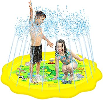 KABEATY Sprinkler 3-in-1 Toddler Splash Play Mat Pool