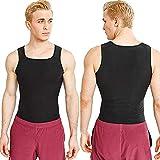 GCHH Mujeres Hombres Sauna Fitness Waist Trainer Camisa De Neopreno Top para Deporte Corsé De Neopreno Chaleco para Adelgazante Sudoración con para Deporte FitnessMale-L/XL