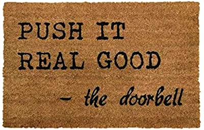 PRIDE OF PLACE Astley Rectangle Doormat | Push It Design | Non-Slip PVC Backing | Heavy Duty Coir | Ideal for Indoor or Sheltered Outdoor Use | Waterproof | 40 x 60cm