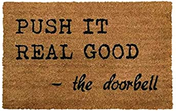 PRIDE OF PLACE Astley Rectangle Doormat | Push It Design | Non-Slip PVC Backing | Heavy Duty Coir | Ideal for Indoor or Sh...
