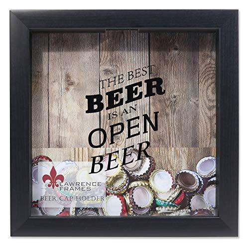 Lawrence Frames 10x10 Black Beer Cap Holder Shadow Box