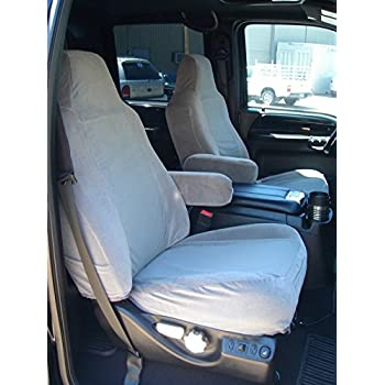 40//20//40 High Back Seats, Black C1 Durafit Seat Covers Made to fit 2002-2010 Ford F250-F550 Truck Super Crew//Xcab Front and Back Waterproof Front Seat Console Rear 60//40 with Armrest.