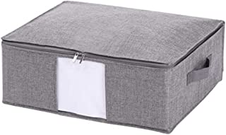PPCP Bed Bottom Flat Storage Box Fabric Foldable Storage Box (Color : Gray)