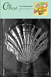 Cybrtrayd Shell Nautical Soap Mold, Large with Exclusive Cybrtrayd Copyrighted Soap Molding Instructions