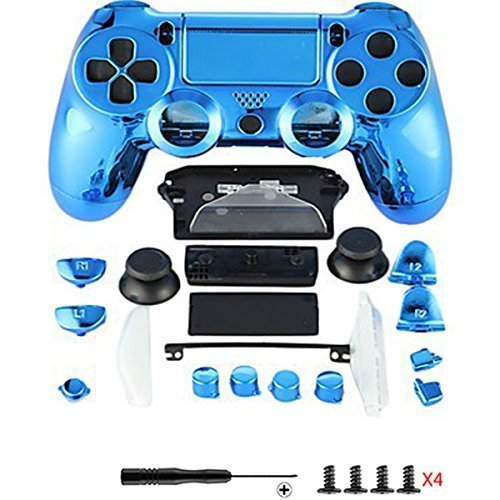 Canamite® - Cover per joystick Playstation PS4, 4 DualShock, 4 Controller, cromato, PS4, 1#