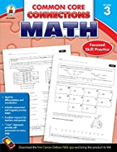 Carson-Dellosa Common Core Connections Math Workbook, Grade 3, Ages 8 - 9, 96 Pages