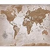 murando Carta da parati 200x140 cm Fotomurali in TNT Murale alla moda Decorazione da Muro XXL Poster Gigante Design Carta per pareti Mappa del Mondo Continente k-A-0108-a-a