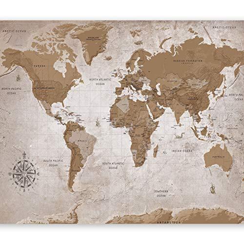 murando Carta da parati 400x280 cm Fotomurali in TNT Murale alla moda Decorazione da Muro XXL Poster Gigante Design Carta per pareti Mappa del Mondo Continente k-A-0108-a-a