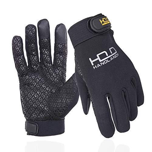 HANDLANDY Cycling Gloves for Men & Women, Water Resistant Mountain Bike Gloves, Touchscreen Grip Sport Outdoor Riding Gloves (XS)